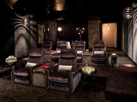 Stylish, Comfortable Home Theater