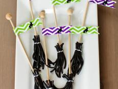 These sweet licorice witches' broomsticks are as much fun to eat as they are to craft.