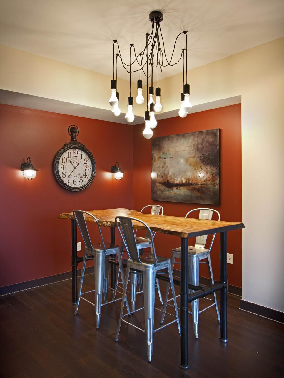 Rustic contemporary living room 4 photos