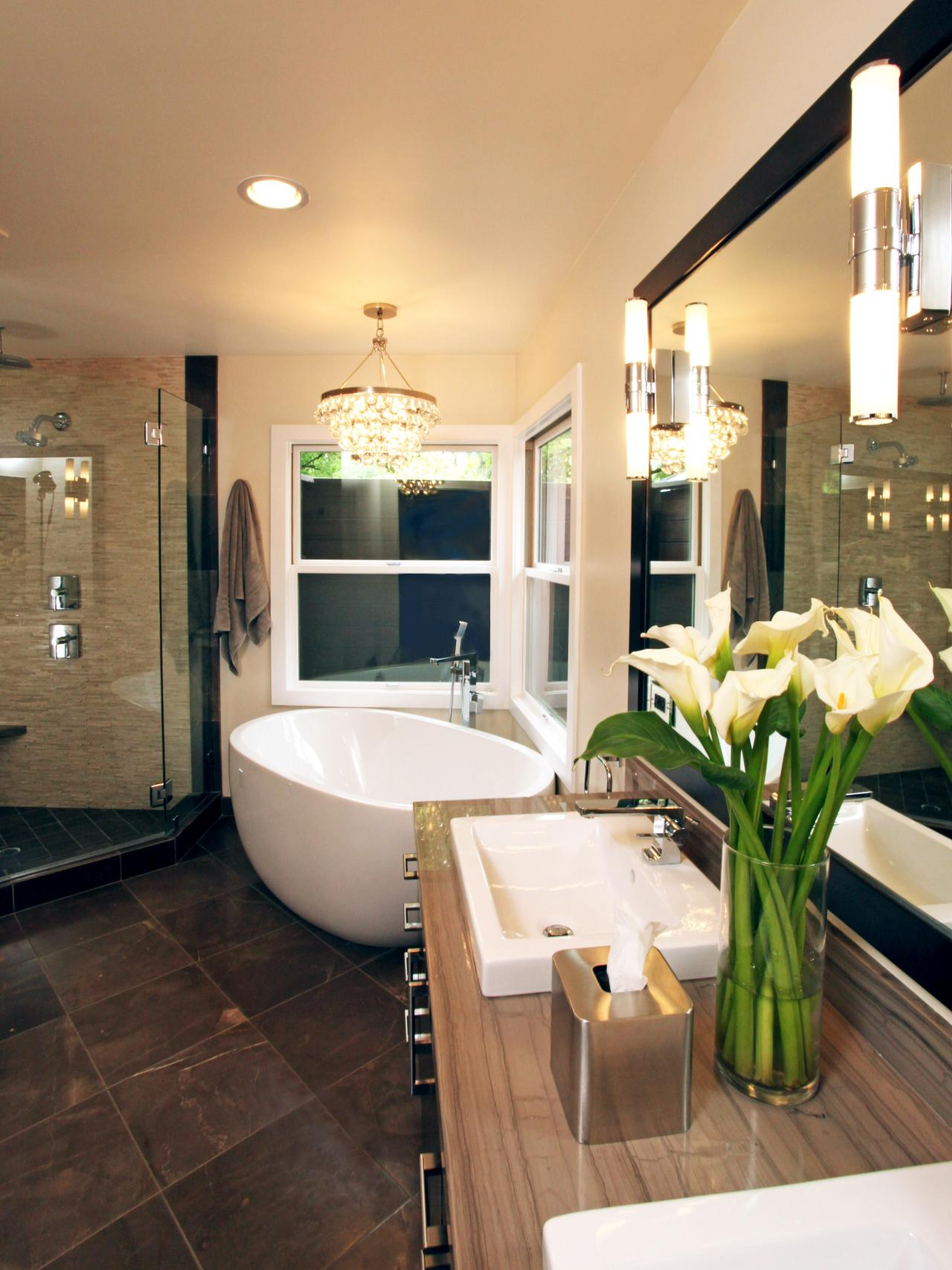 Neutral Bathroom With Victorian Tub