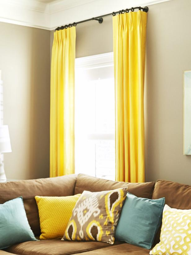 curtains for yellow living room photo page hgtv 19103