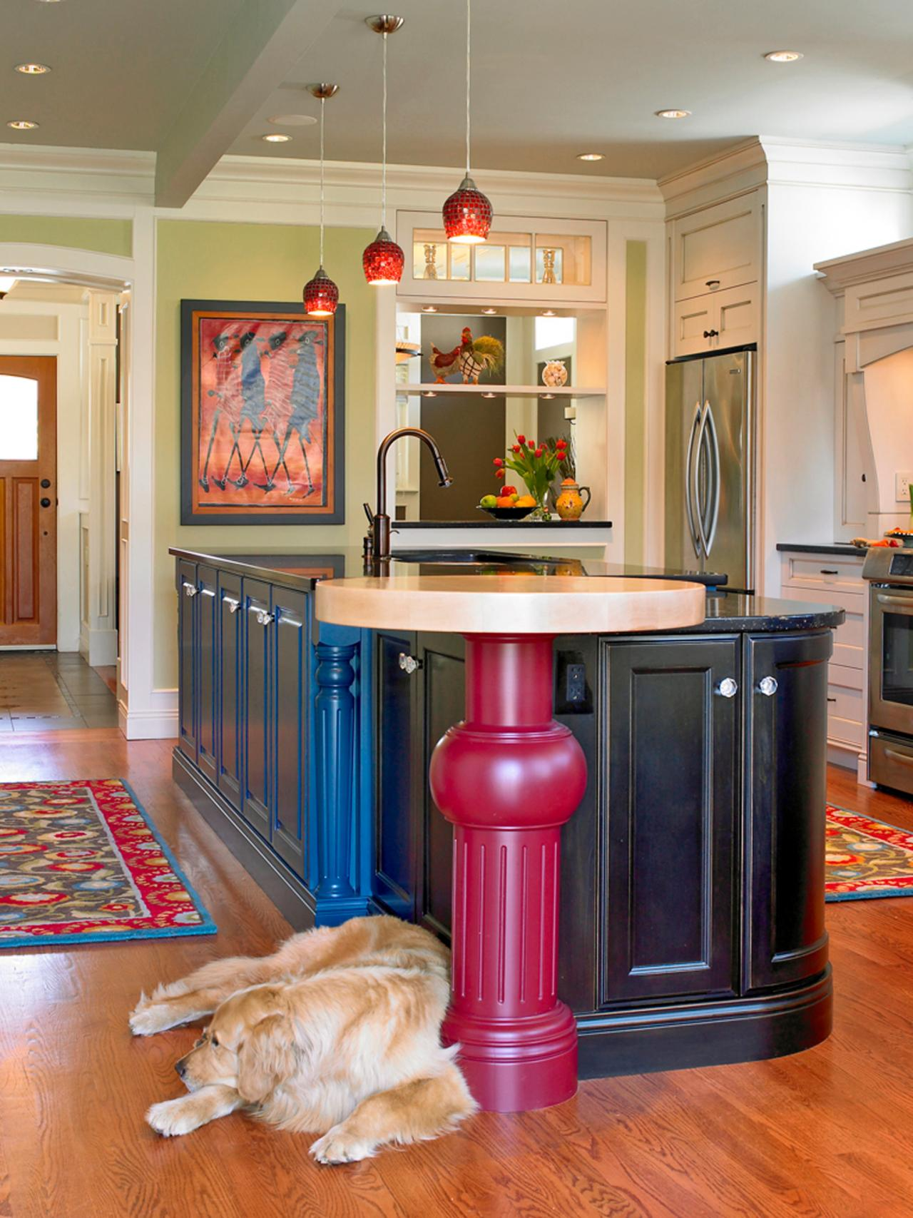colorful kitchen cabinets ideas 30 colorful kitchen design ideas from hgtv kitchen ideas 16768