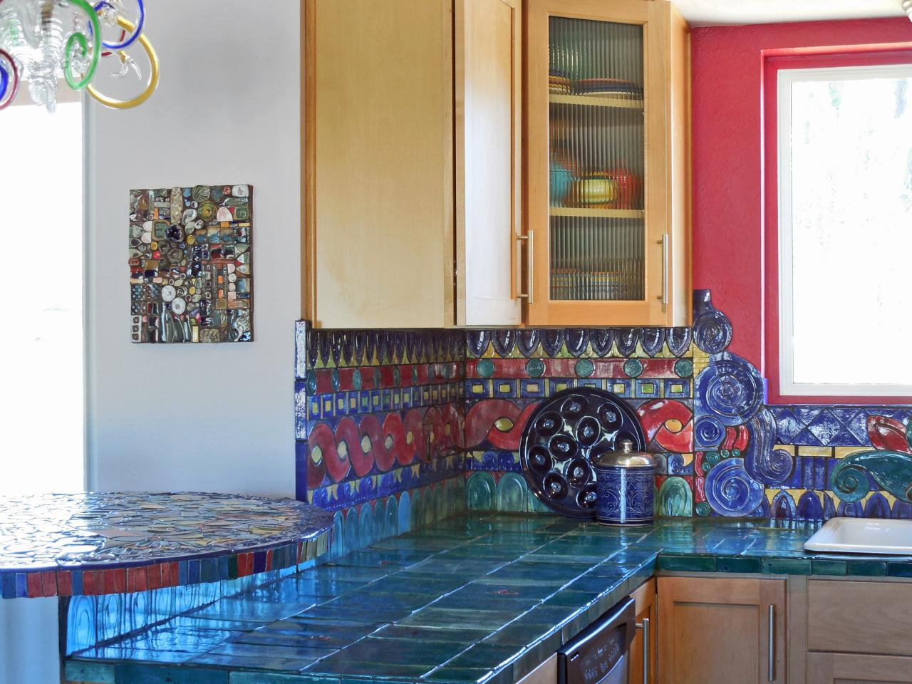 Multicolor Kitchen Backsplash