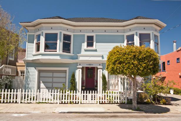 After of Blue Victorian Exterior on HGTV's Curb Appeal