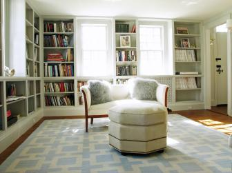Home Library With Historic Charm