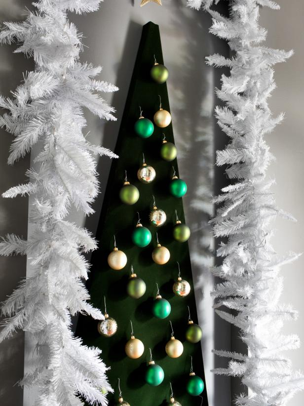 Decorative Wall-Mounted Christmas Tree : hgtv christmas tree decorating ideas - www.pureclipart.com