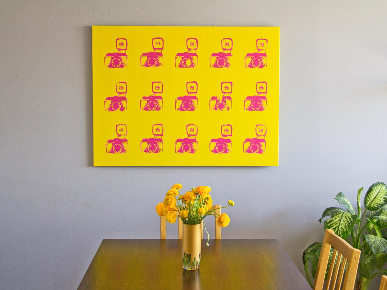 DIY Wall Decor: Make Faux-Screenprinted Pop Art | HGTV
