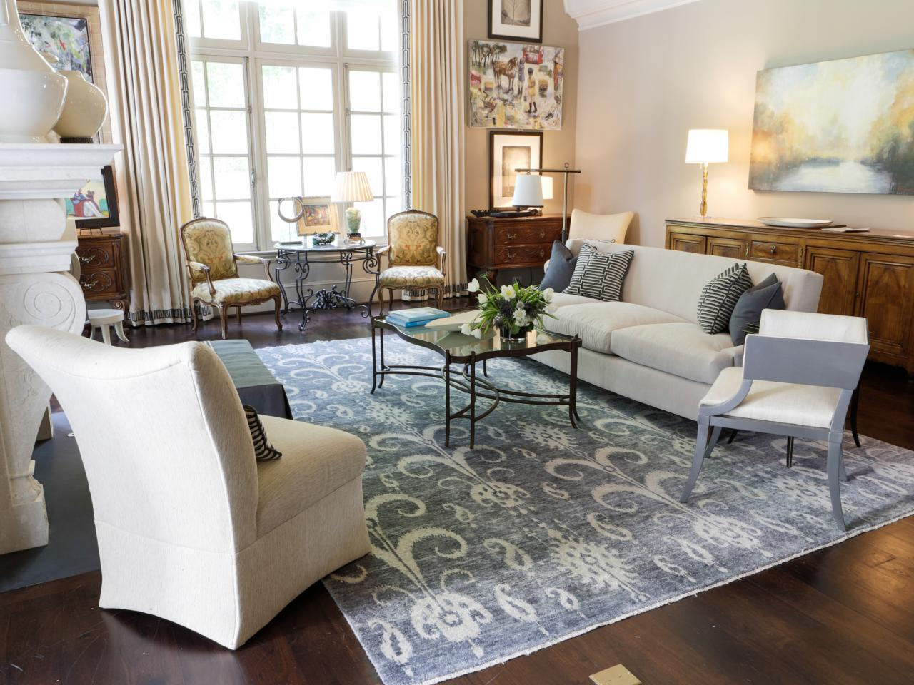 area rug in living room photos hgtv 19904