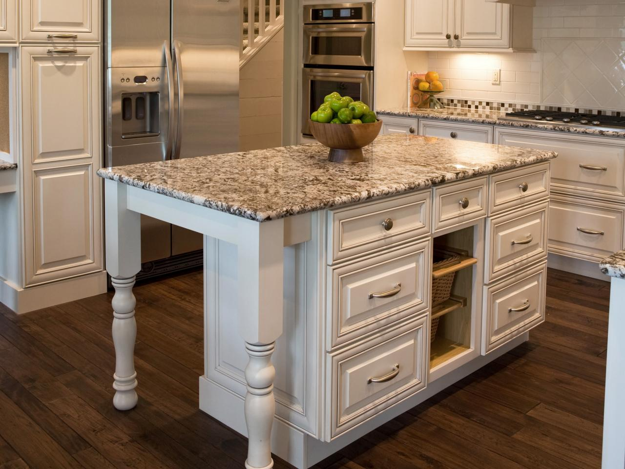 white kitchen island with granite top granite kitchen islands pictures ideas from hgtv hgtv 945