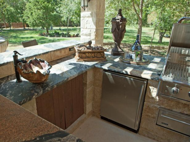 Old World Outdoor Kitchen Designed By Donna Moss