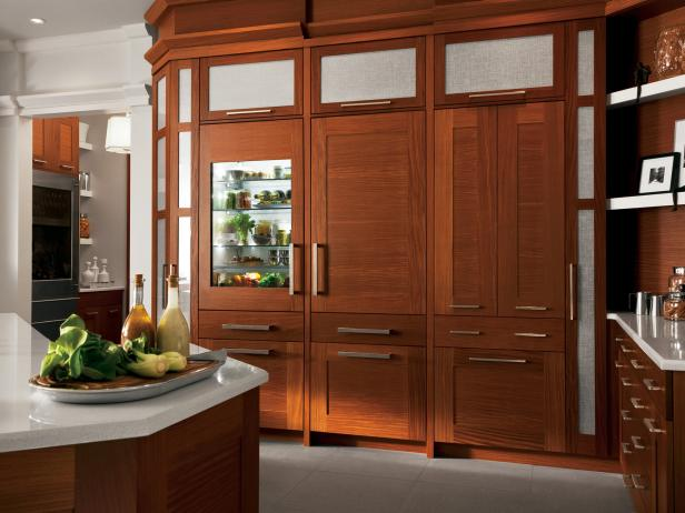 Kitchen With Modern Wood Cabinets