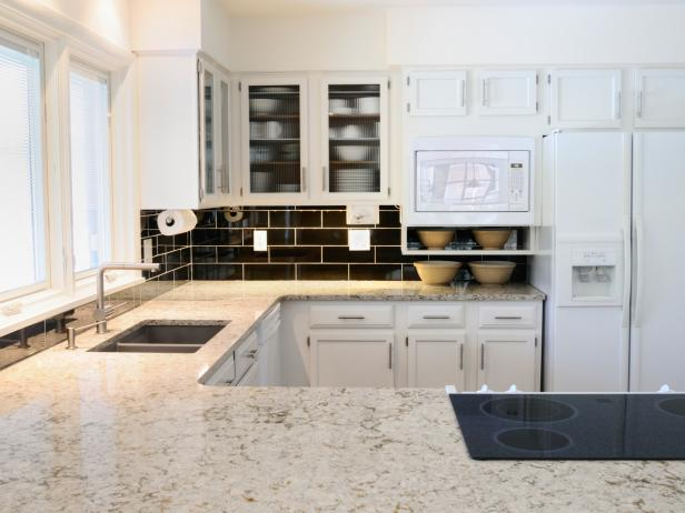 White Granite Kitchen Countertops: Pictures & Ideas From
