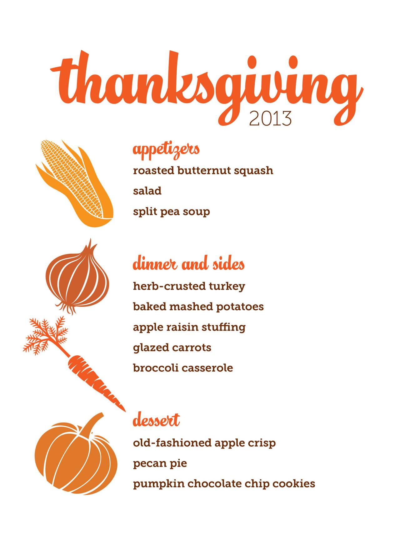 Download Customizable Thanksgiving Menus | HGTV