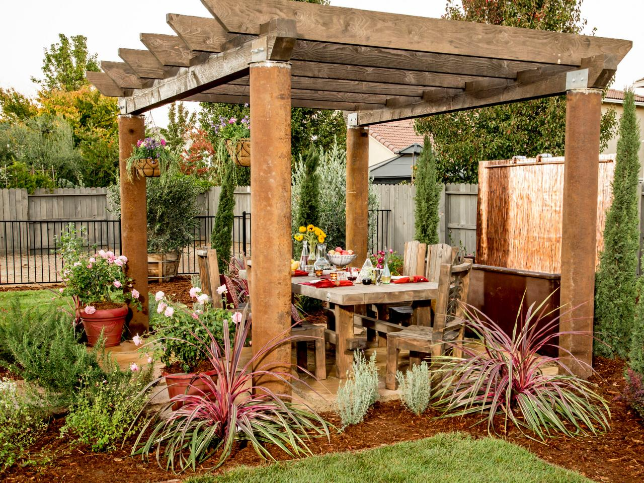Pergola With Outdoor Dining Area | HGTV on Patio Dining Area Ideas id=21637