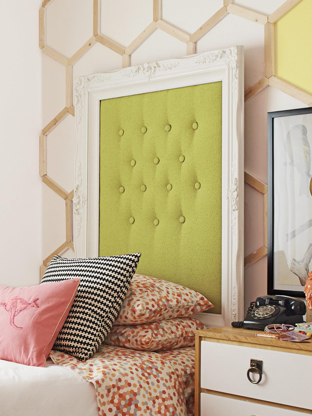 How to Make a Picture Frame Headboard | HGTV
