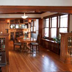 Craftsman-Style Dining Room With Original Woodwork