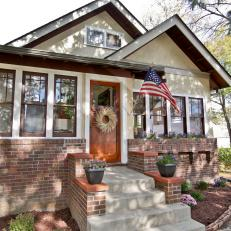 Craftsman Home With Red Brick