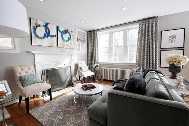 Photo page hgtv - Living room colours to go with grey ...