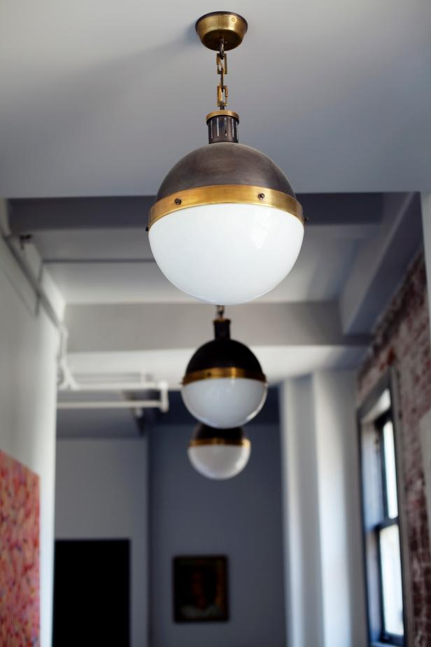 Nautical-Inspired Brass Pendant Lights