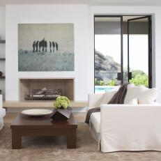 Streamlined And Modern Neutral Living Room