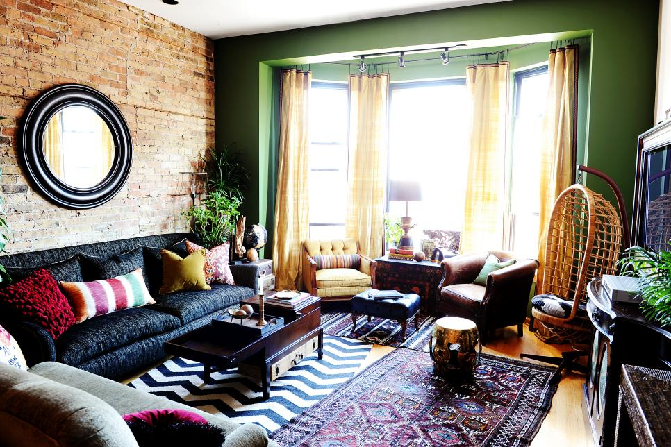 Colorful, Eclectic Living Room Full of Global Accents | SuzAnn ...