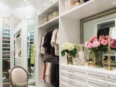 Bright, Functional and Glamorous Walk-In Closet