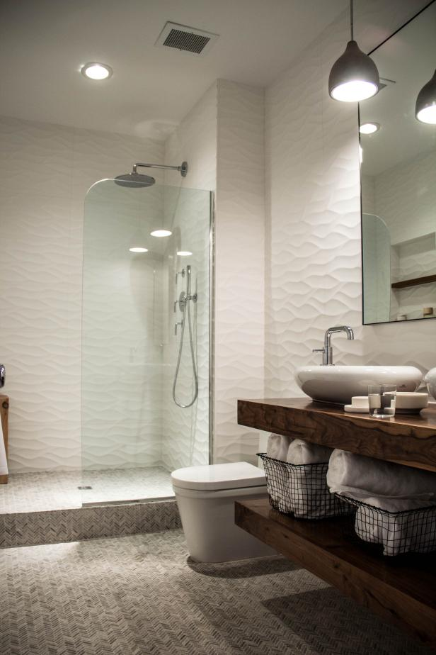 Sleek Sculptural Master Bathroom 2014 Hgtv