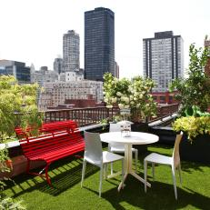 Penthouse Veranda With Grass Floor