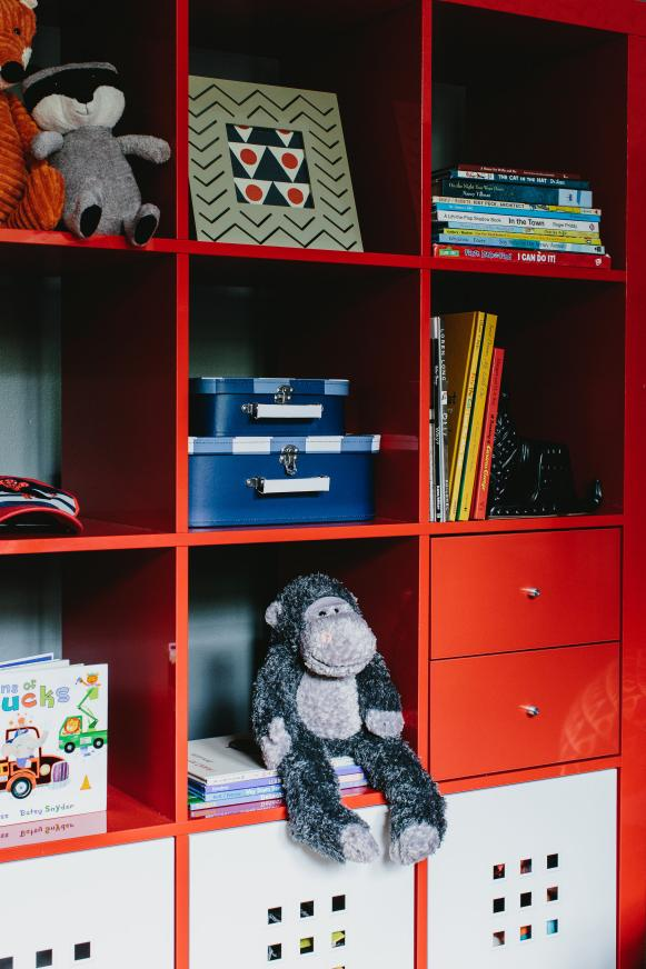 Kids' Room Features Fun, Colorful Storage