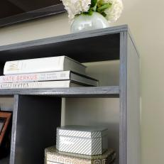 Gray Shelves Provide Small-Space Storage for Entryway