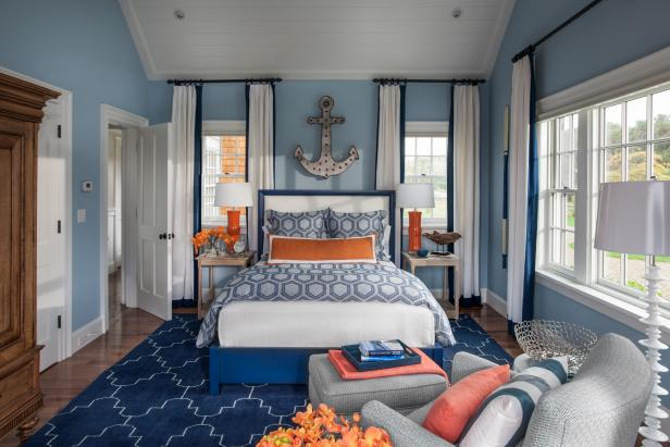 Nautical Inspired Guest Bedroom