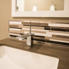 Sleek and Stylish Bathroom Sink With Chrome Faucet