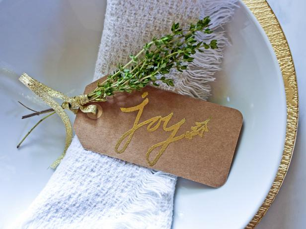 Gold-Embossed Place Card