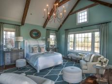Calming Blue Bedroom With Neutral Accents
