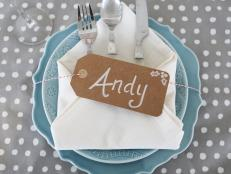 Add an (easy!) personal touch to your next party with customized place cards.