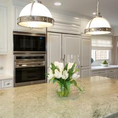 Restoration Hardware Pendants Above Kitchen Island