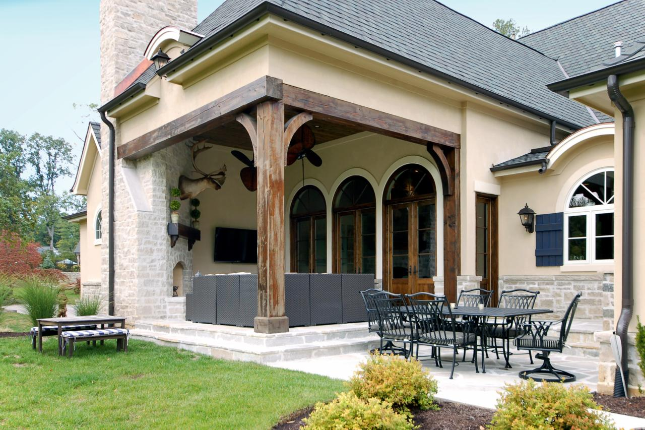 French country home boasts spacious outdoor living area hgtv - French country exterior house colors ...