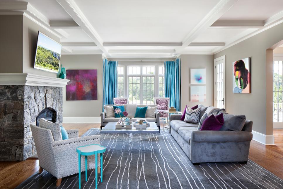 34 Aqua Living Room Photos