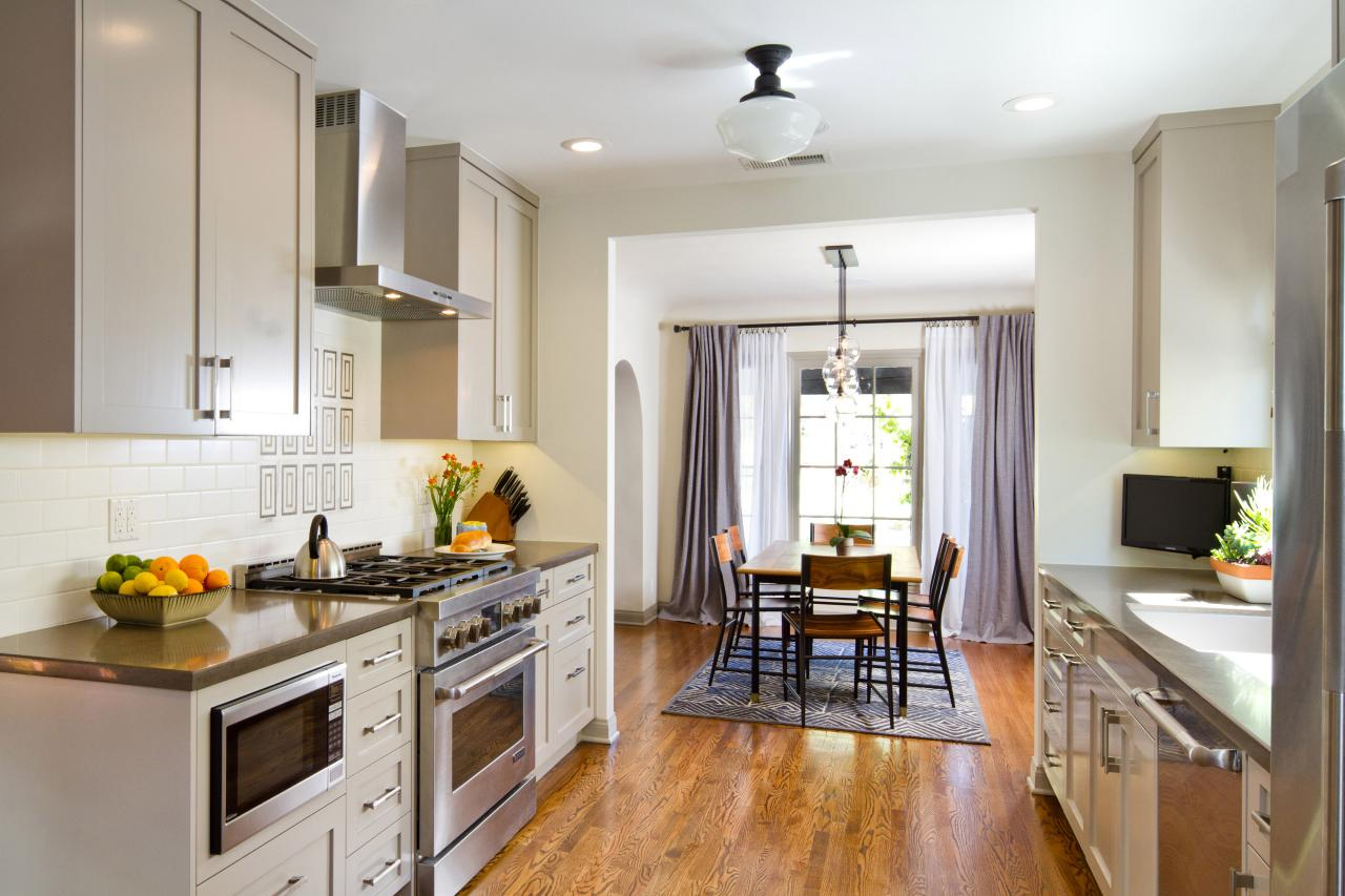 Transitional Open Plan Kitchen And Dining Room Hgtv