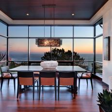 Contemporary Oceanfront Dining Room