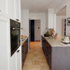 Galley Kitchen With Vertical Storage