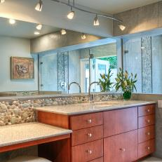 Photos hgtv contemporary master bathroom with track lighting audiocablefo