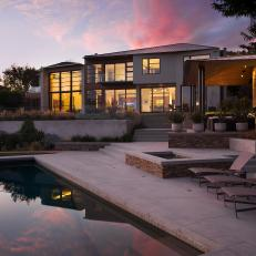 Modern Residence Features Backyard Pool