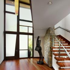 Modern Entryway With Artistic Architecture