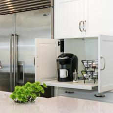 Delightful Coffee Station In Kitchen Cabinet