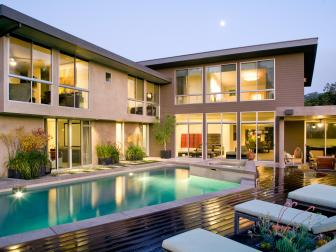 Contemporary Home Addition With Backyard Pool