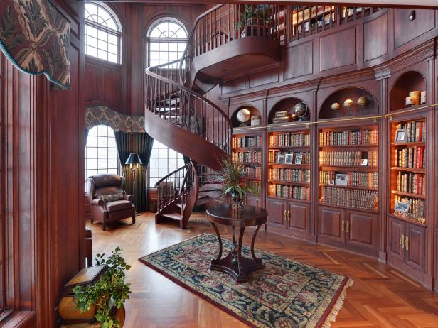 Victorian Library Photos HGTV