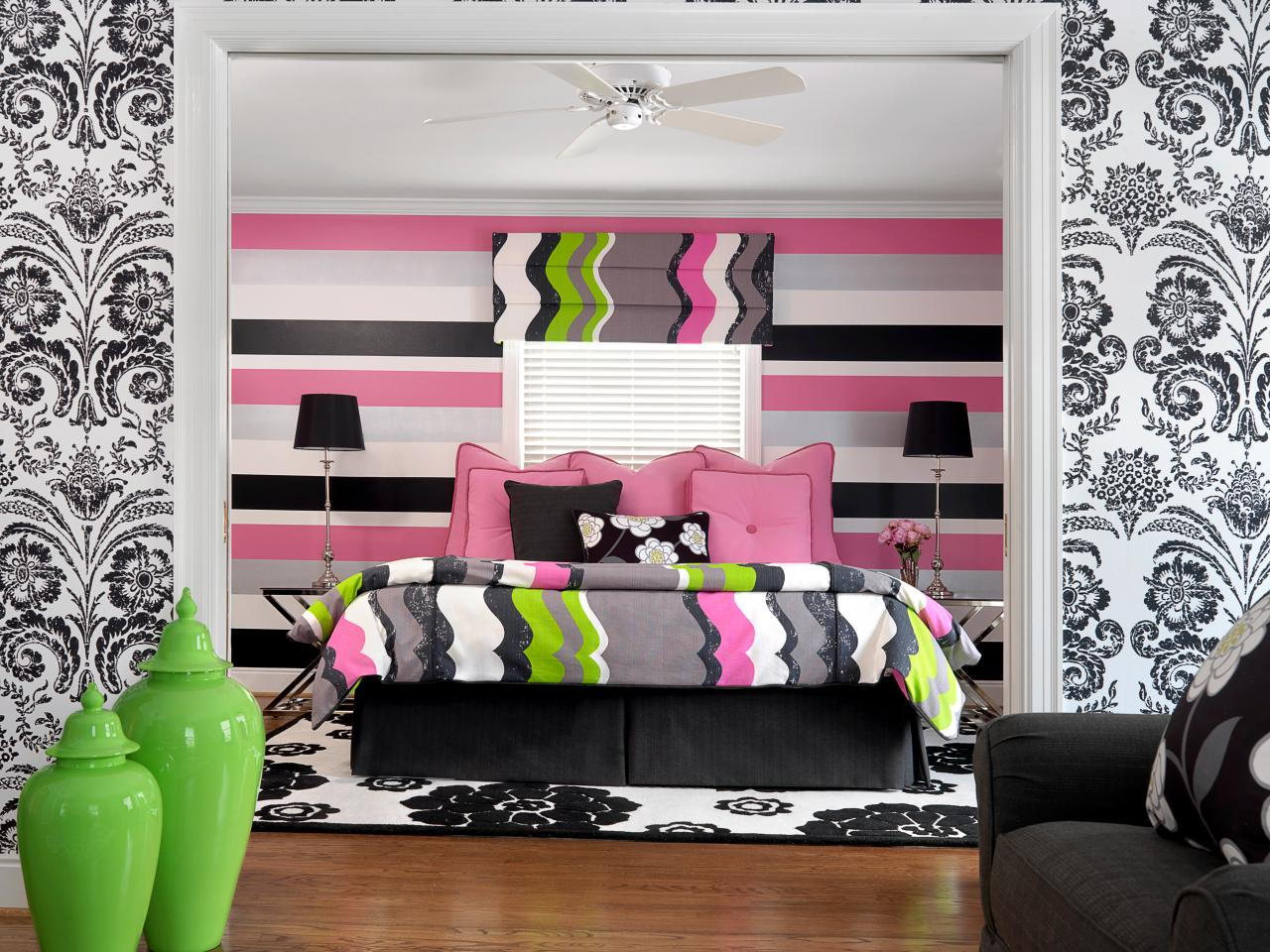 Teenage Bedroom Color Schemes Pictures Options Ideas HGTV - Bedroom wall design ideas for teenagers