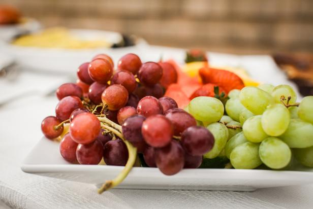 Fresh Fruit Platter With Grapes