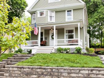 After: Renovated Home With Newly Landscaped Yard